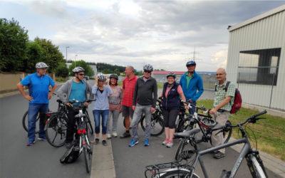 Kritische Radtour des grünen Ortsverbands Bergrheinfeld